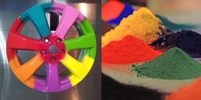 покраска дисков порошком