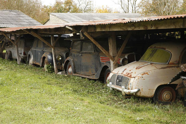 заброшенные раритетные авто