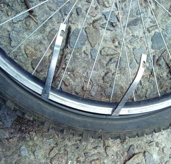 разбортирование колеса велосипеда