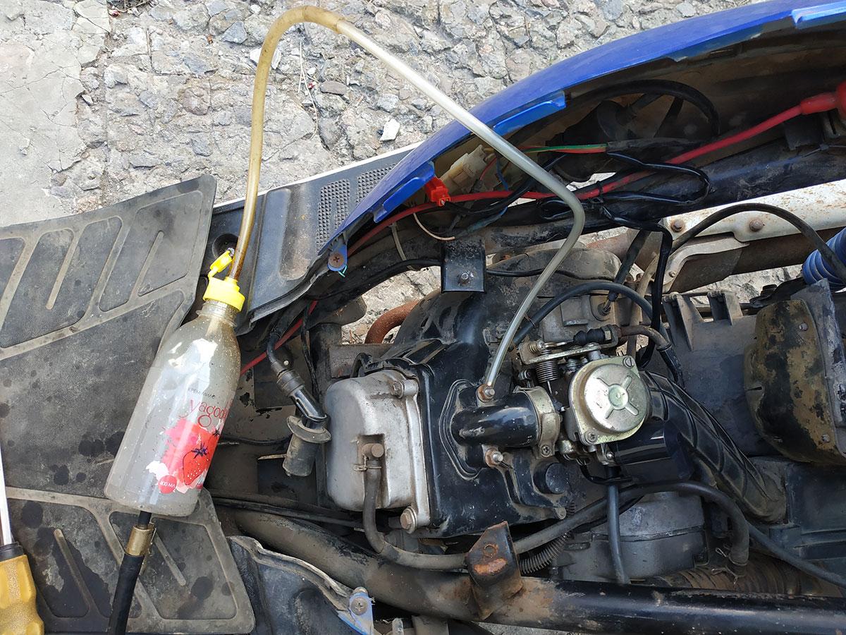подключение дымогенератора к скутеру 4т