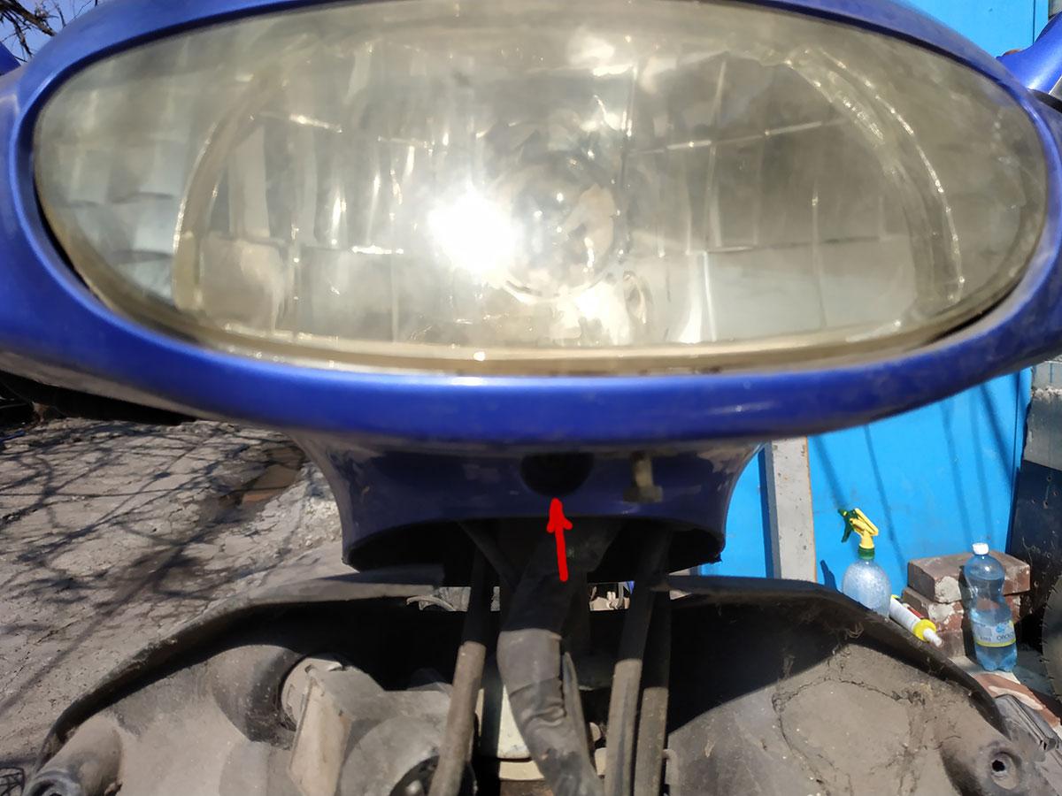 снятие фары на китайском скутере