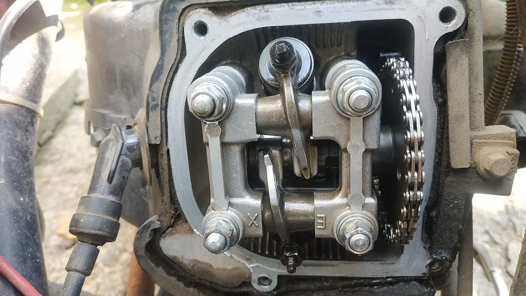 регулировка клапанов на скутере 4т