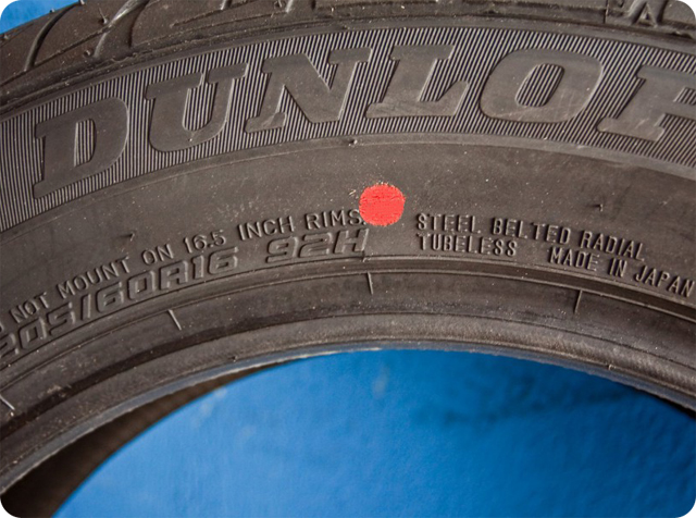 метки на шинах
