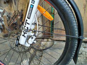 Установка переднего крыла на велосипед
